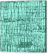 Tree Texture Turquoise Acrylic Print