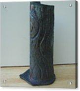 Tree Trunk Vase Acrylic Print by Julia Van Dine