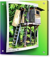 Treehouse Fort Acrylic Print