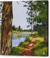 Trees Along The River Acrylic Print