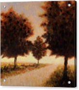 Trees At Sunset Acrylic Print