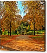 Trees In Autumn Acrylic Print