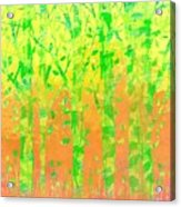 Trees In The Grass Acrylic Print