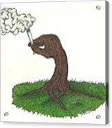 Trees Smokin' Trees Acrylic Print