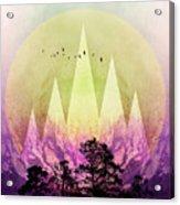 Trees Under Magic Mountains IIi Acrylic Print