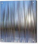 trees Alaska blue abstract Acrylic Print