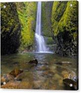 Trek To Lower Oneonta Falls Acrylic Print
