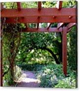 Trellised Walkway  Acrylic Print by Deborah  Crew-Johnson