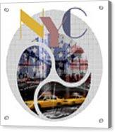 Trendy Design New York City Geometric Mix No 2 Acrylic Print