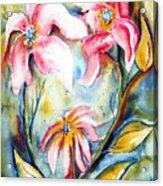 Tres Fleurs In Heat Acrylic Print