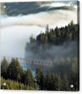 Trestle In Fog Acrylic Print