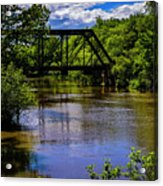 Trestle Over River Acrylic Print