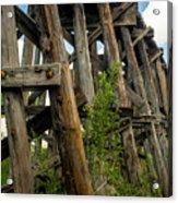 Trestle Timber Acrylic Print