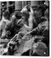 Trevi Fountain Detail 2 Acrylic Print