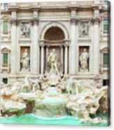 Trevi Fountain, Fontana Di Trevi, After The Restoration Of 2015  Acrylic Print