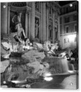 Trevi Fountain Night 2 Acrylic Print