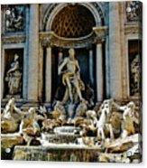 Trevi Fountain Vertical  Acrylic Print