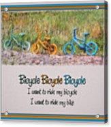 Tri Bike Bicycle Races Acrylic Print
