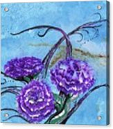 Tri  Flower Bleau Acrylic Print