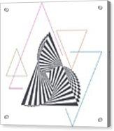 Triangle Op Art Acrylic Print