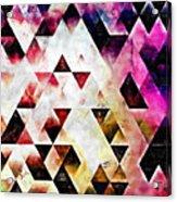 Triangles Autumn Acrylic Print