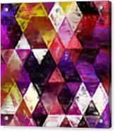 Triangles Impressionism Acrylic Print