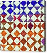 Triangles Impressionism Painting Acrylic Print