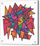 Triangles In Motion Acrylic Print