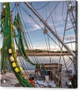 Triangles In The Harbor Acrylic Print