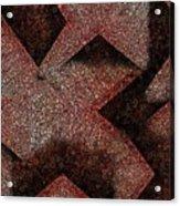 Triangulated Circles Acrylic Print