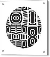 Tribal Ball- Art By Linda Woods Acrylic Print