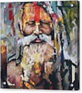 Tribal Chief Sadhu Acrylic Print