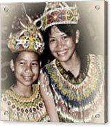 Tribal Girls Acrylic Print