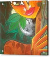 Tribal Lady Acrylic Print
