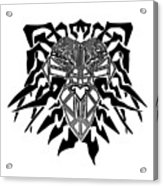 Tribal Lion Alpha Acrylic Print