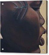 Tribal Mark Acrylic Print by Kaaria Mucherera