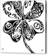 Tribal Shamrock Acrylic Print