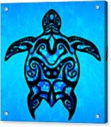 Tribal Turtle Hibiscus Acrylic Print