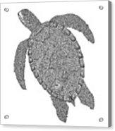 Tribal Turtle II Acrylic Print