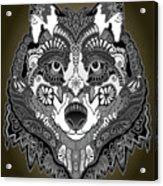 Tribal Wolf Acrylic Print
