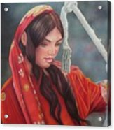 Tribal Woman Acrylic Print
