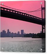 Triborough Bridge From Astoria Park Acrylic Print