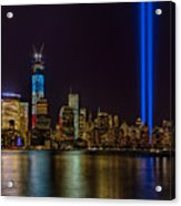 Tribute In Lights Memorial Acrylic Print by Susan Candelario