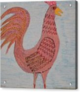 Tribute To A Mean Rooster Acrylic Print
