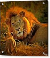 Tribute To Cecil Acrylic Print