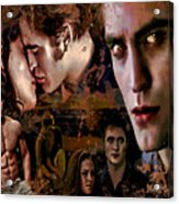 Tribute To Eclipse Pattinson Stewart Lautner Acrylic Print