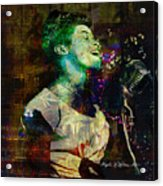 Tribute To Sarah Vaughn Acrylic Print