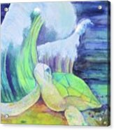 Tribute To The Sea Turtle Acrylic Print