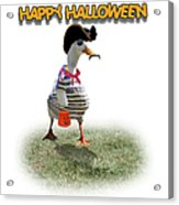 Trick Or Treat For Cap'n Duck Acrylic Print