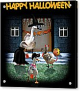 Trick Or Treat Time For Little Ducks Acrylic Print